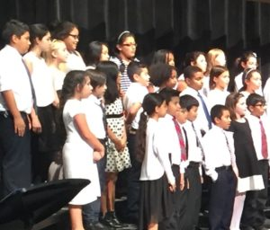 Barcroft students singing in the chorus