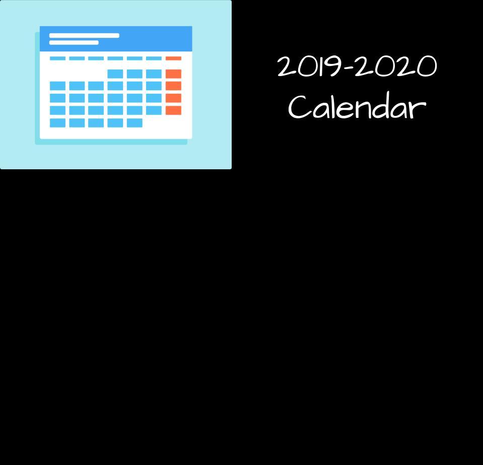 2019-2020 School Calendar Released