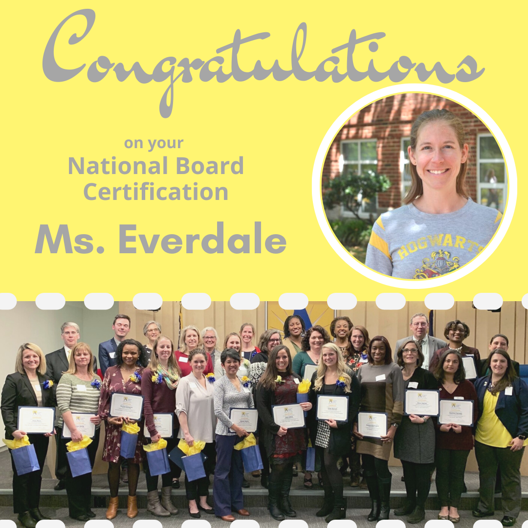 Congratulations, Ms. Everdale!