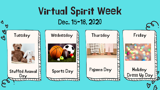 Virtual Spirit Week – Dec. 15, 16, 17, 18
