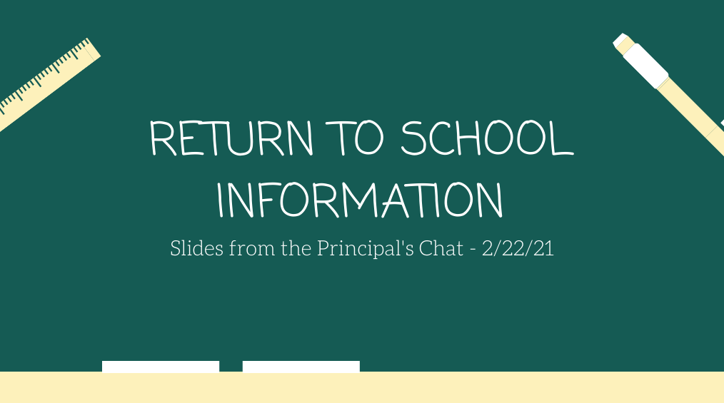 Barcroft's Return to School Information